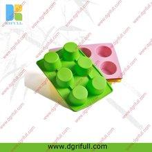 Mini 6 cup silicone ice cube mold