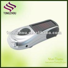 portable solar dynamo flashlight