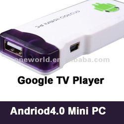 512 DDR3+4GB ROM Best Google Android 4.0 Internet TV Box,Smart Google Arabic Mini TV Box Player
