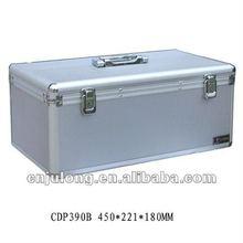 Portable CD/DVD Case in silver color