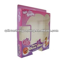 Hot selling popular foldable cheap packaing gift paper box with window