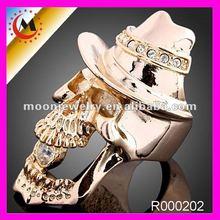 2012 GOLD SKULL RING