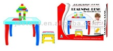 2012 hot sell Multifunctional building blocks table with chair(EN71 6P) TI12060063