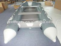 4.6m dark grey+light grey with plywood floor zodiac inflatable boat