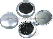 popular round travel hair brush with mirror