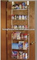 Over Door Metal Storage Rack /Over-The-Door Storage Rack organizes