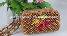 2012 new style beaded bags bead Pinwheel shape purse for girl