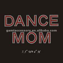 2012 lastest motif iron on rhinestone designs dance mom for apparel hot sale