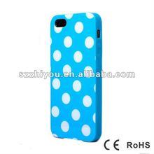 High quliaty TPU case ,Polka Dot IMD TPU case for iphone5