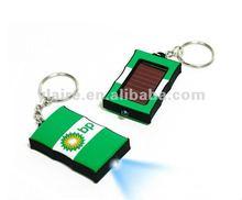 Led solar flashing keychain