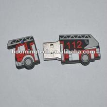 Promotional fire truck shape pen drive