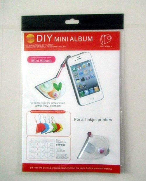 Free-design software Support DIY mini Big heart shape album(inkjet photo printing paper)
