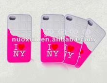 2012 fashion design TPU mobile case for iphone