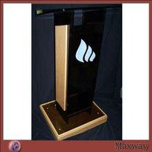 Dark Brown Wooden Lucite Dais Platform Acrylic Rostrum