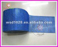 Diamond mesh roll sparkle rhinestone crystal platinum ribbon
