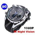 8GB New 1080P HD Mini DVR Waterproof Camera Watch IR Night Vision 1920*1080P Watch Camera