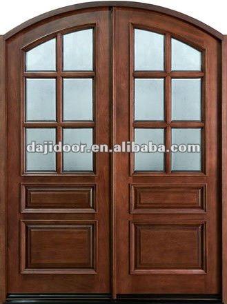 Duplo Interior de madeira arredondado projeto portas de DJ-S9198MA