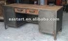 Reclaimed wooden furniture - 2 drawer desk