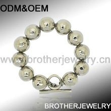stainless steel fashion cheap colorful mens bead bracelets