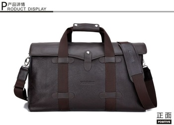 men's travel bags male first layer leather large-capacity travel business package