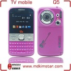 Fashion hot TV 2 sim celular q5 tv mobile