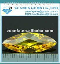 marquise cut golden faceted cubic zircon