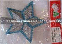 Xmas decorative glitter star