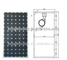 250w high efficiency poly solar panel system with low price