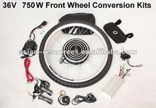 Wholesale 36V 750W Electric Bicycle Ebike Conversion Kits 2012 New Style Most Powerful Kits Front Wheel Kits