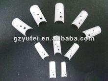 Half cover French nail tips chinese nail art designs