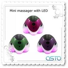 mini body massager,colorful led light mini massager
