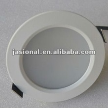Super bright SAA&CE&RoHS dimmable fixed white housing 75mm cut out led ceiling pot lights 9W