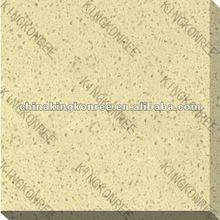 Durable engineered quartz yellow floor tiles