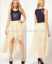 short in front long in back dresses(20803)