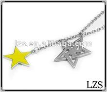 Metal Star Pendant Necklace(0577)