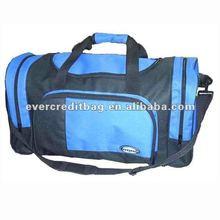 Rolling garment duffel bag with trolley
