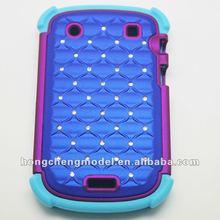 Grace pc+silicone+diamond case for blackberry bold 9900