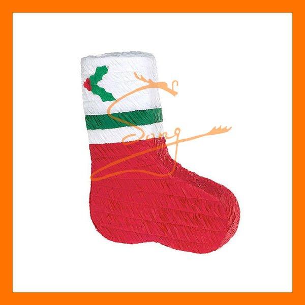 La forma del zapato plano de papel piñata arte de la navidad decoración