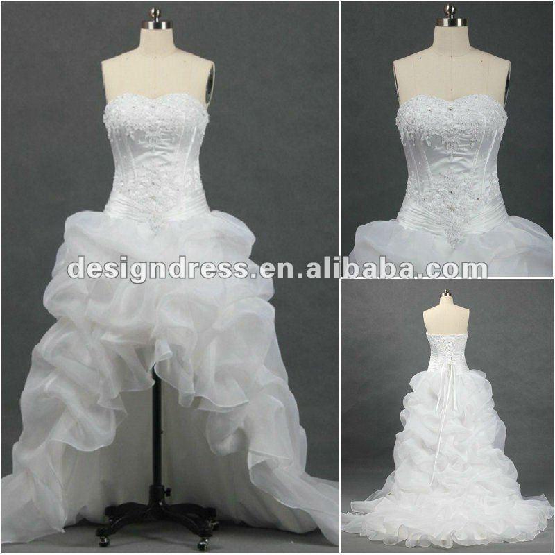 Wedding Dresses Short Front Long Train 113