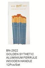 Artist Brush Golden Synthetic Watercolor brush In Stock