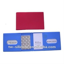 2012 promotional cheap silicone card folder