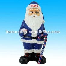Chicago Cubs resin santa statue