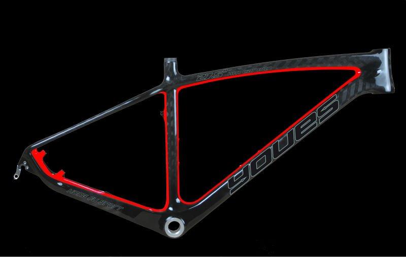 """Color de la pintura de carbono total 27.5"""" de bicicletas de montaña marco 650b"""