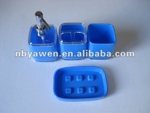 Blue Plastic Bathroom Set