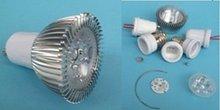 3*1w led spotlight's accessories, base,lens,housing,PCB.etc