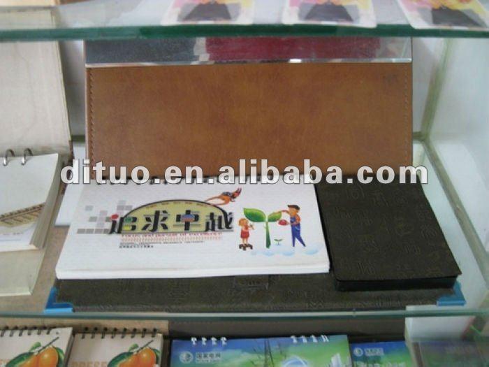 wooden desk calendar holder