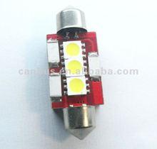 3SMD LED Xenon WHITE ERROR FREE CAR LICENSE PLATE LIGHTS BULBS 6418, 6411