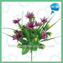 2012 new arrival 7-branch snow mum flower bush,bouquet flower,silk mum flower