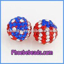 Wholesale Flag of United States Shamballa Beads For Bracelets CPB-021