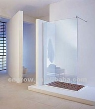 Tempered glass for shower steam
